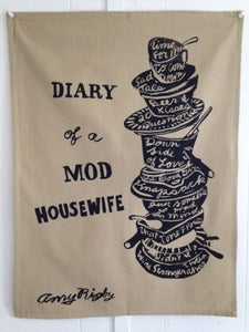 Image of Diary Of A Mod Housewife tea towel