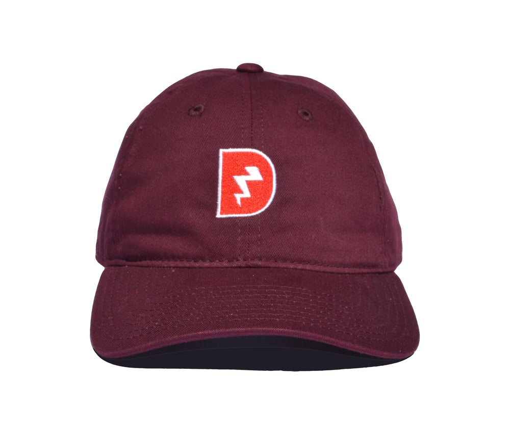 Image of Signature D Dad Hat - Cranberry