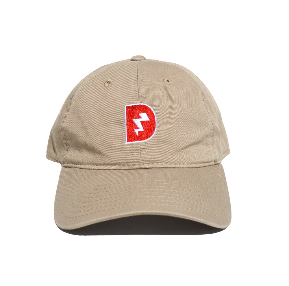Image of Signature D Dad Hat - Tan