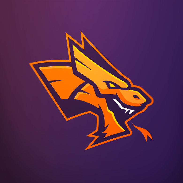 "Image of ""Dragonz"" Mascot Logo - 1-Time Sale"