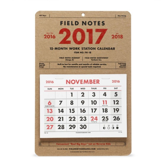 Image of Field Notes - Work Station Calendar