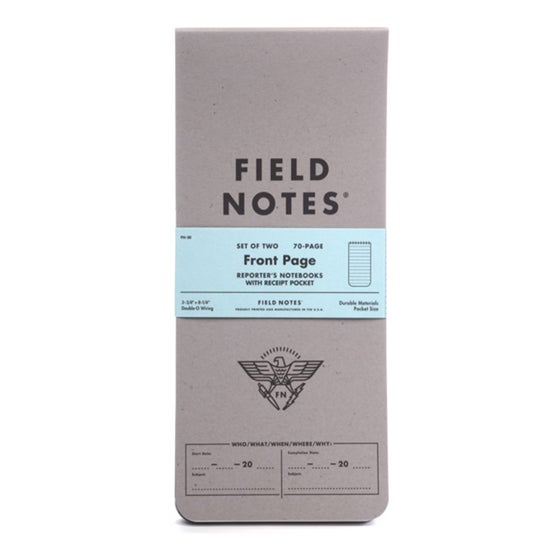 Image of Field Notes - Front Page