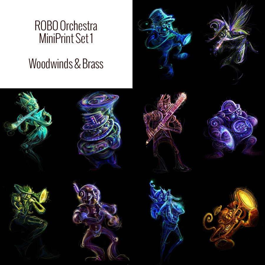 Image of Robo Orchestra MiniPrint Set 1
