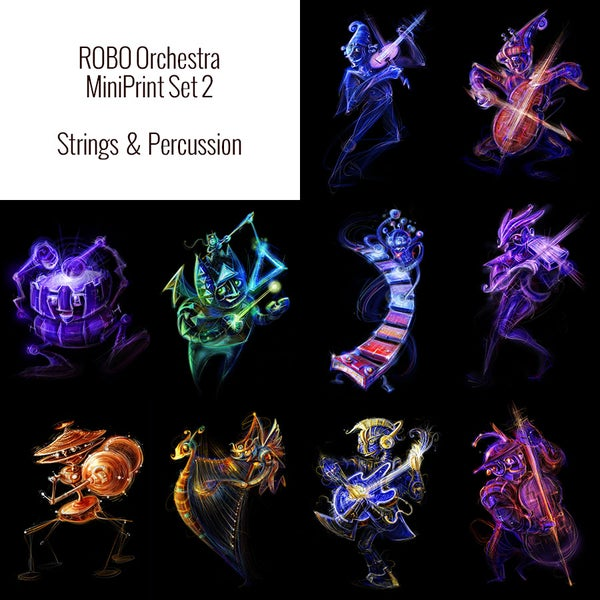 Image of Robo Orchestra MiniPrint Set 2