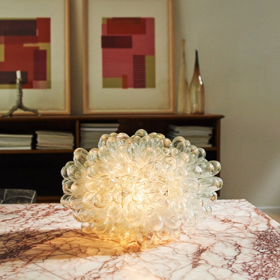 Image of Damascus Glass Lamp - Transparent