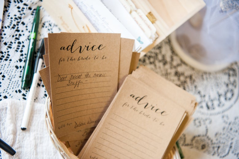 Image of Bridal Shower Advice Cards