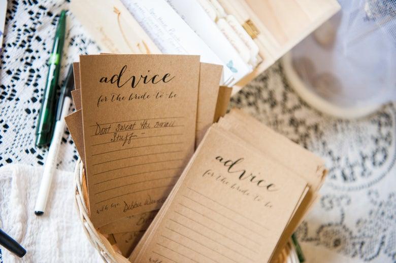 Image of Bridal Shower Advice Cards
