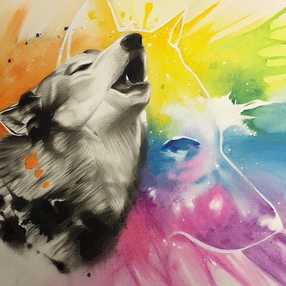 Image of Wuff Painting