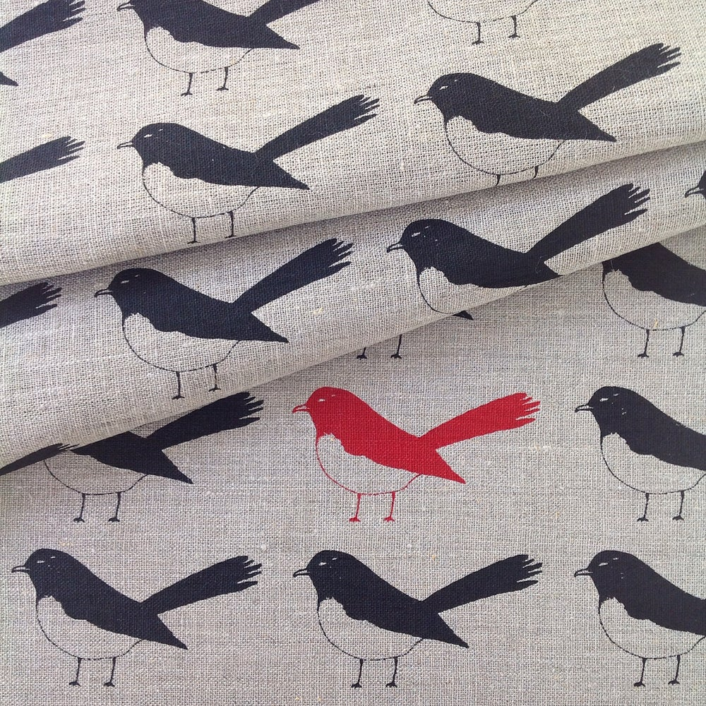 Yardage Design Willy Wagtail Tea Towel