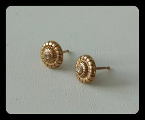 Image of 14ky gold madras earrings