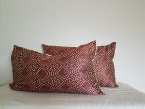 Image of Tsehai Red Lumbar Pillow Cover