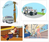 Image of Working Girls - Pinup Illustrations