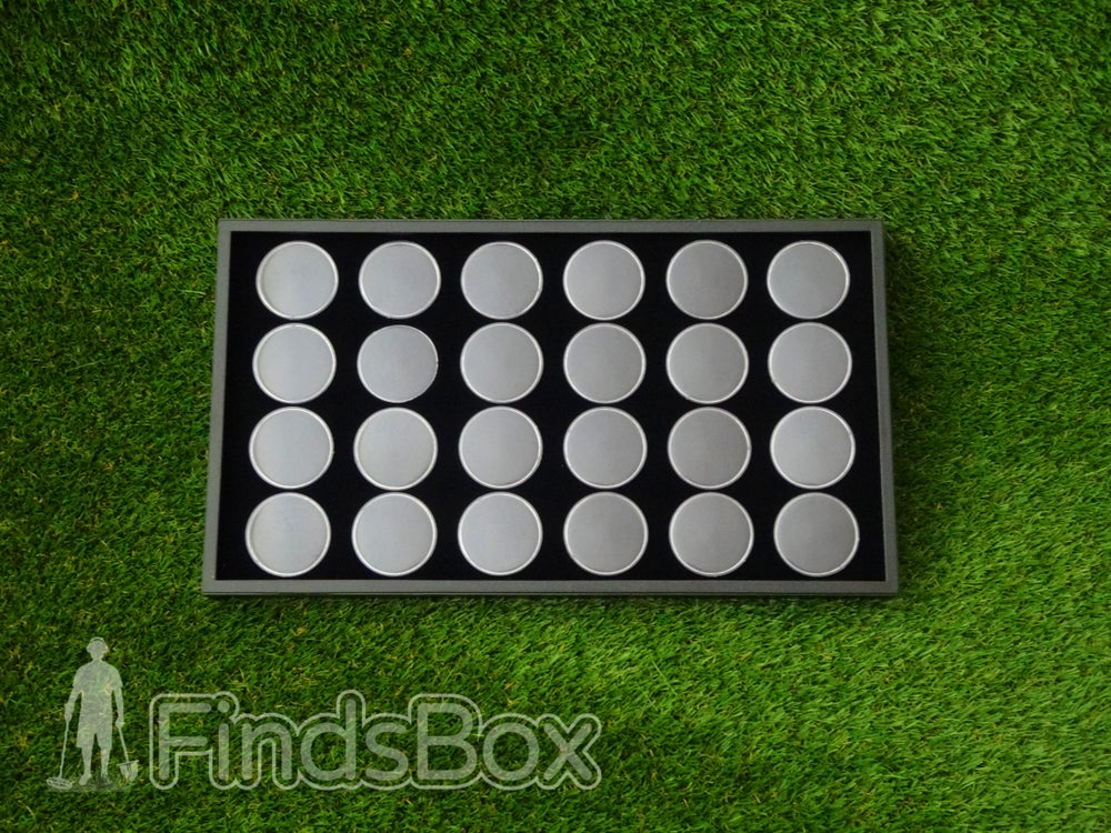 Image of Metal Detecting Finds Box - 24 Capsule Display Tray