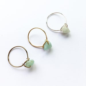 Image of Simple Amazonite Stone Ring - for luck BACK IN STOCK