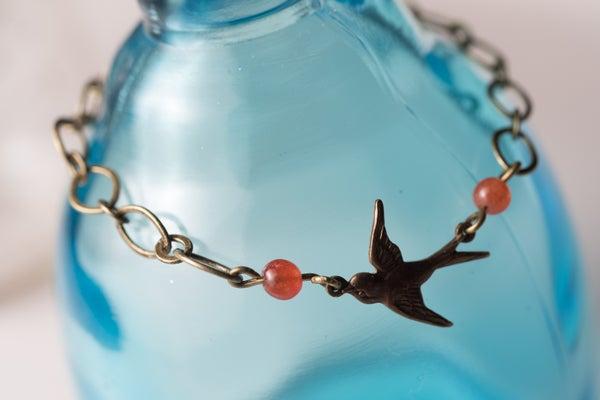 Image of Antique Brass & Bird Bracelet