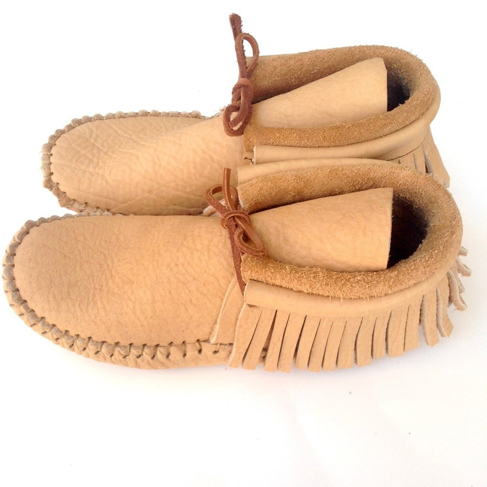 Image of Handmade Moccasins (Tan)