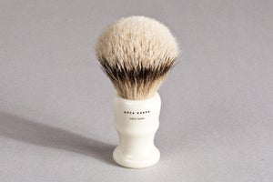 Image of PENNELLO DA BARBA IN TASSO ARGENTATO / SILVERTIP SHAVING BRUSH