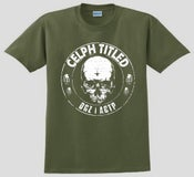 Image of Celph Titled Skull Logo T-Shirt - Military Green