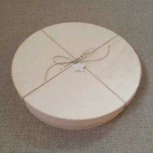 Image of Coffret bois assiette