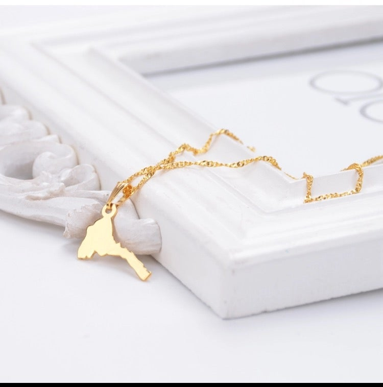 Image of Eritrea Map Necklace