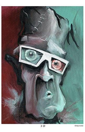Image of 3D Frankenstein Art Print