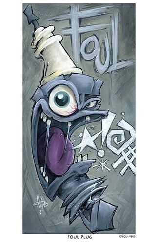 Image of Foul Plug Art Print