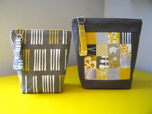 Image of PERFECT ZIP BAGS pdf sewing pattern