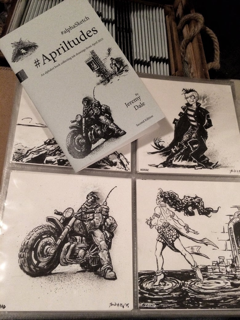Image of Apriltudes #alphaSketch Books/Originals