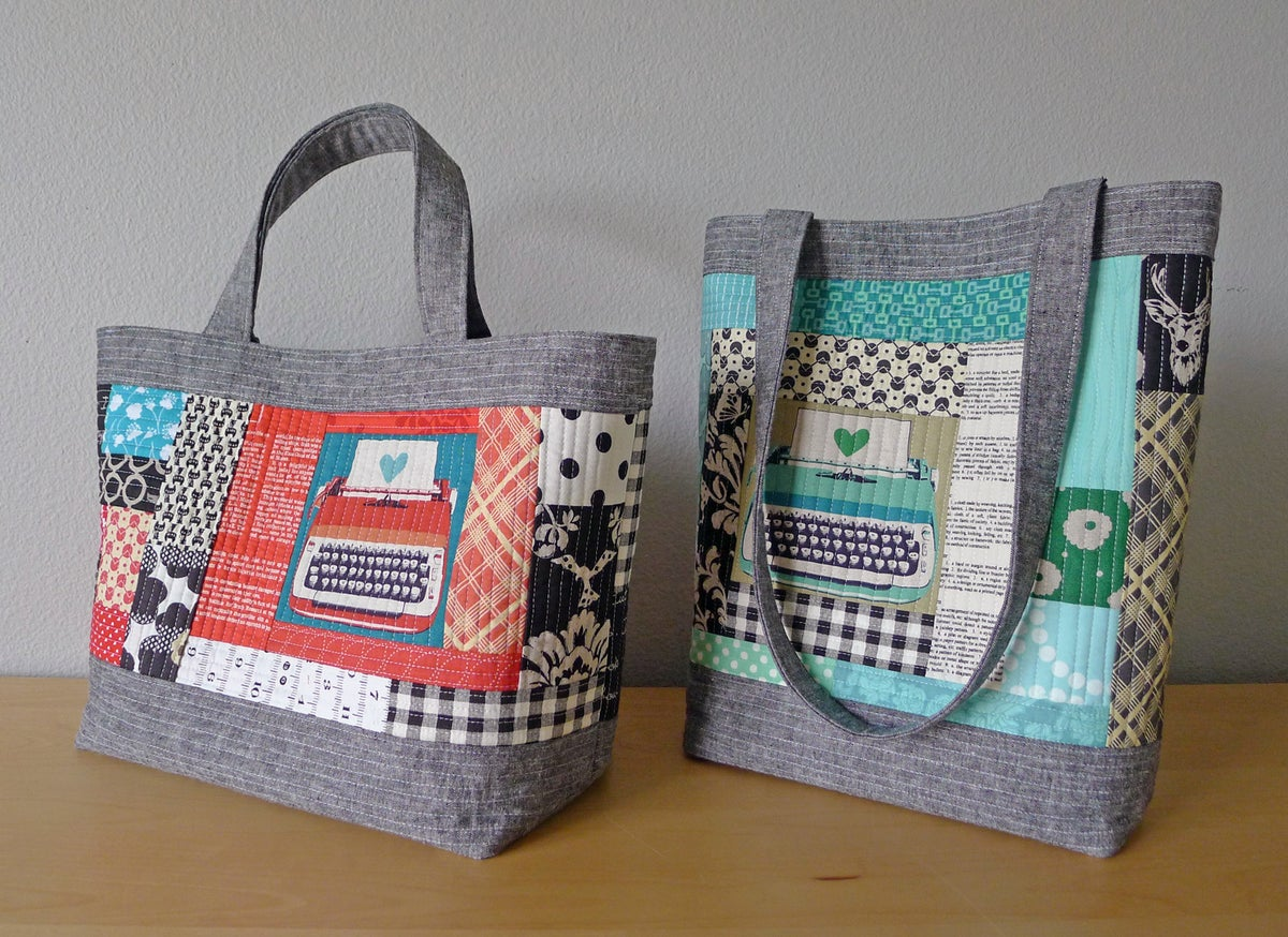 Patterns by Elizabeth Hartman — PERFECT QUILTED TOTES pdf sewing ... : quilted tote bag - Adamdwight.com
