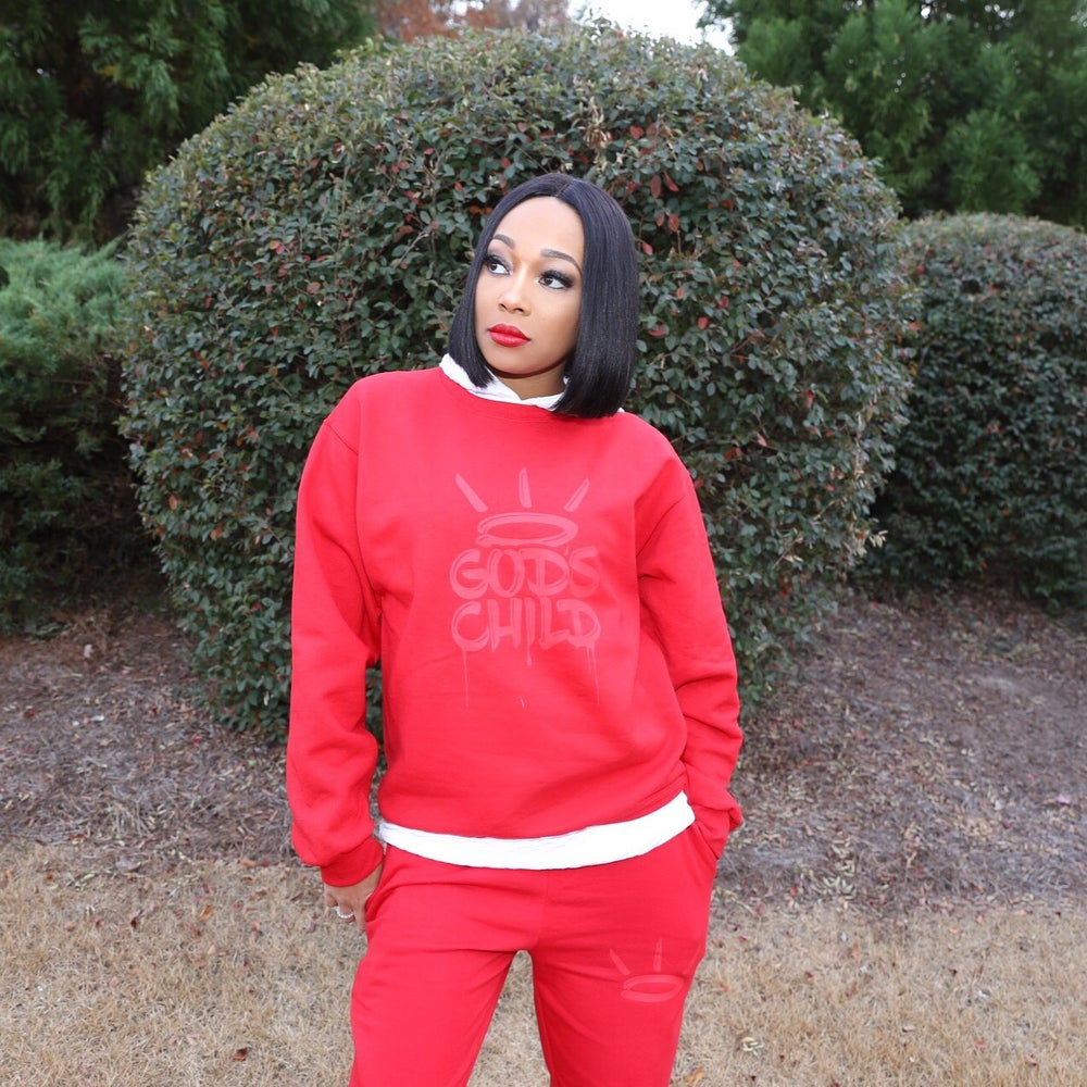 "Image of ""God's Child"" Adult Sweat Suit Set"