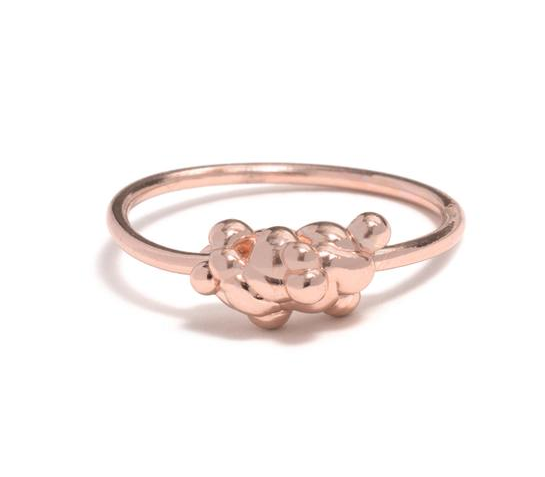 Image of Small 9ct Rose Froth ring