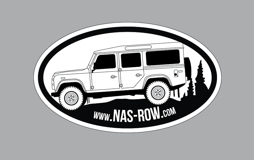 Image of NAS ROW Oval Vinyl Decal