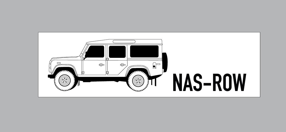 Image of NAS ROW Long Bumper Sticker