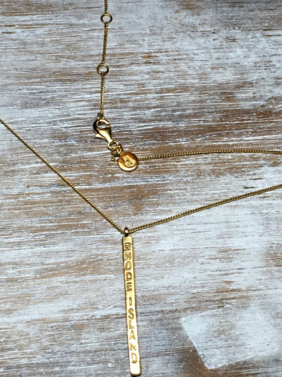 Image of Long Bar Necklace