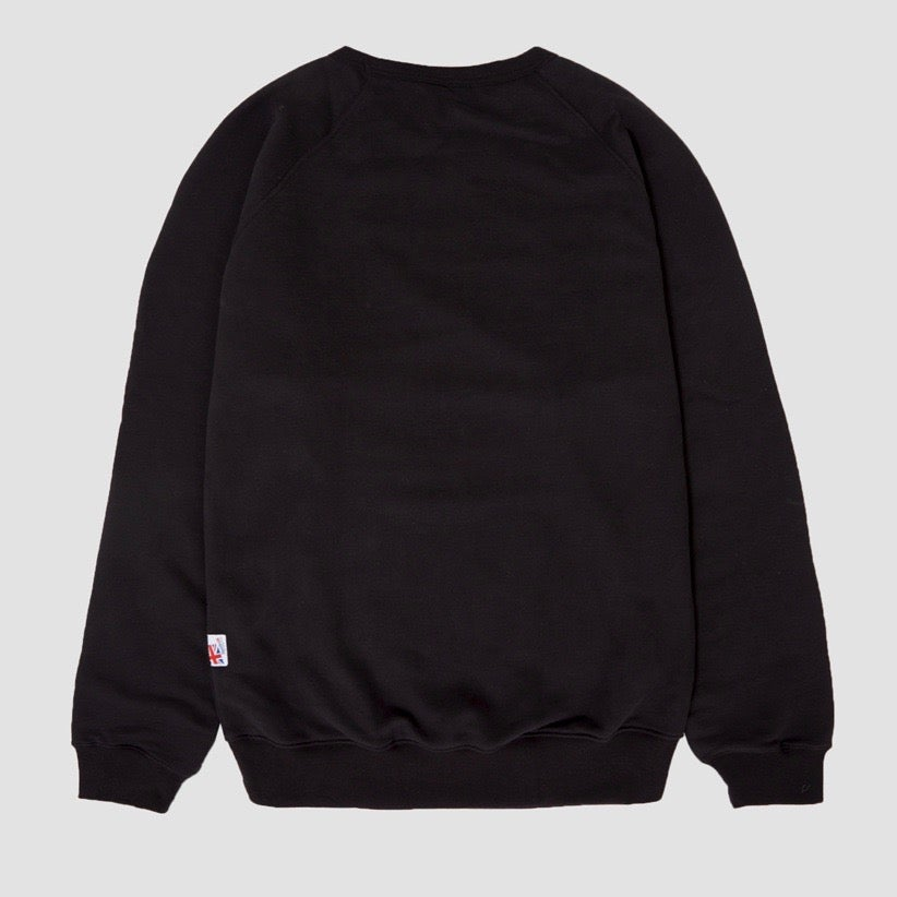 Image of Reebok X Garbstore OK Crew Neck 3M Sweatshirt Black & White
