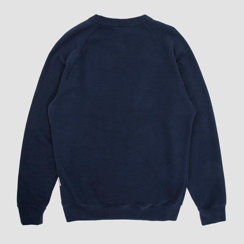 Image of Reebok X Garbstore OK Crew Neck 3M Sweatshirt Navy & Red