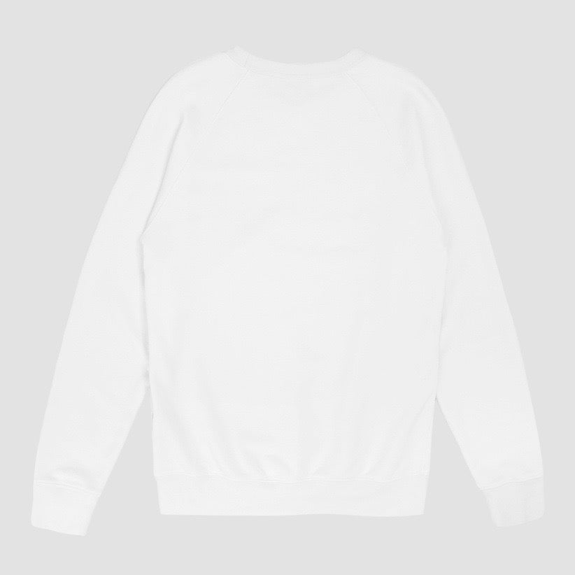 Image of Reebok X Garbstore OK Crew Neck 3M Sweatshirt White & Blue