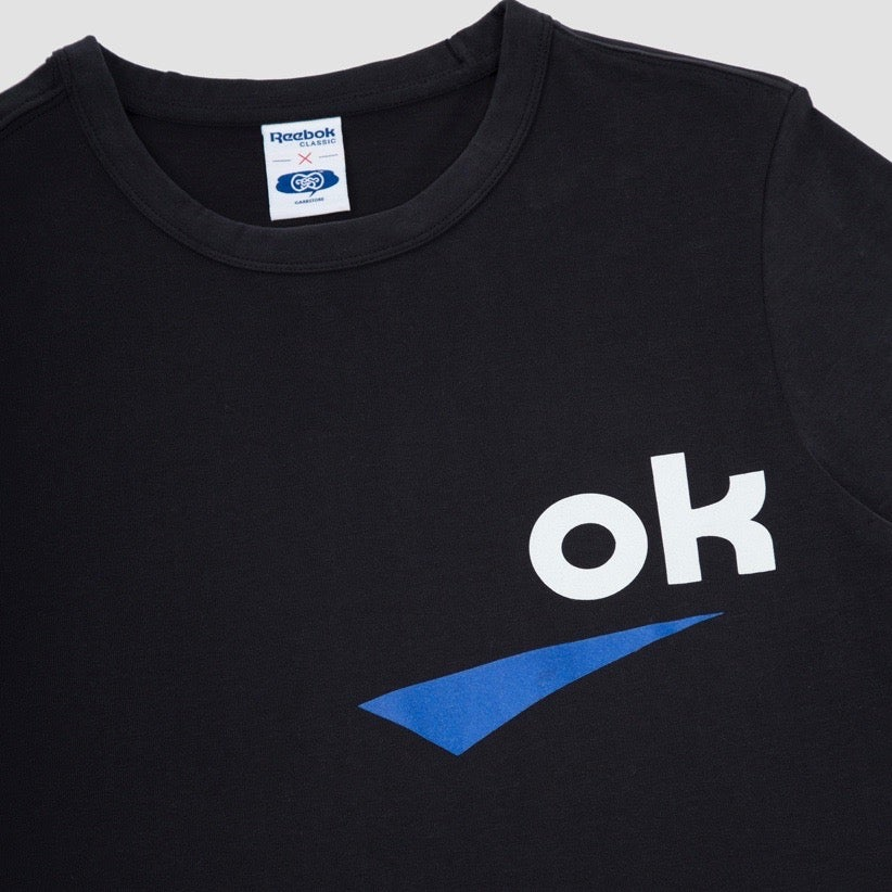 Image of Reebok X Garbstore OK T-Shirt 3M Black