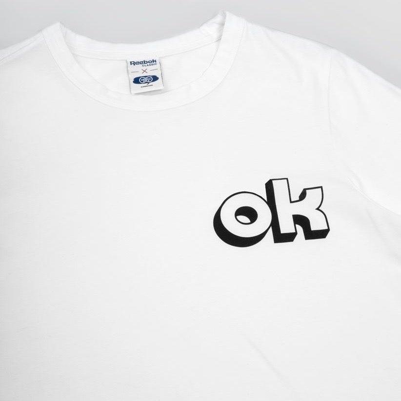 Image of Reebok X Garbstore OK 3D T-Shirt 3M White/Black