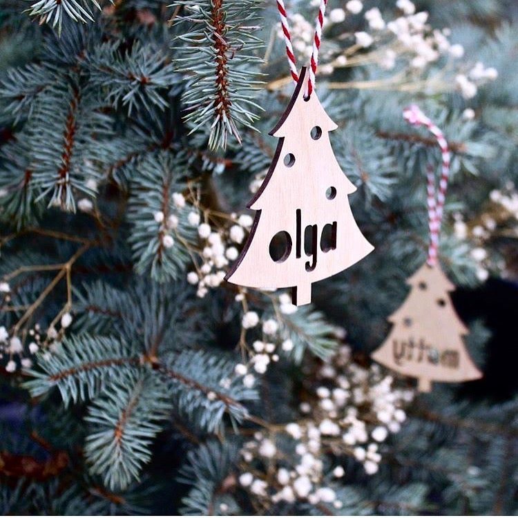 Image of PERSONALISED CHRISTMAS TREE DECORATION