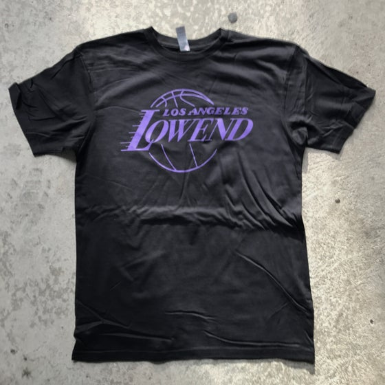 Image of LOW END THEORY Showtime Purple T-Shirt