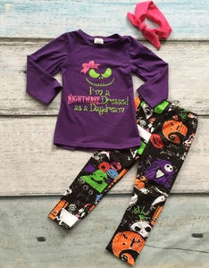 Image of Nightmare Before Christmas Long Sleeved Shirt and Legging Set, Baby, Toddler, Girl