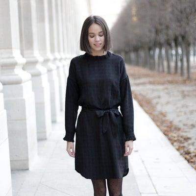 Robe Noa noire - Maison Brunet Paris