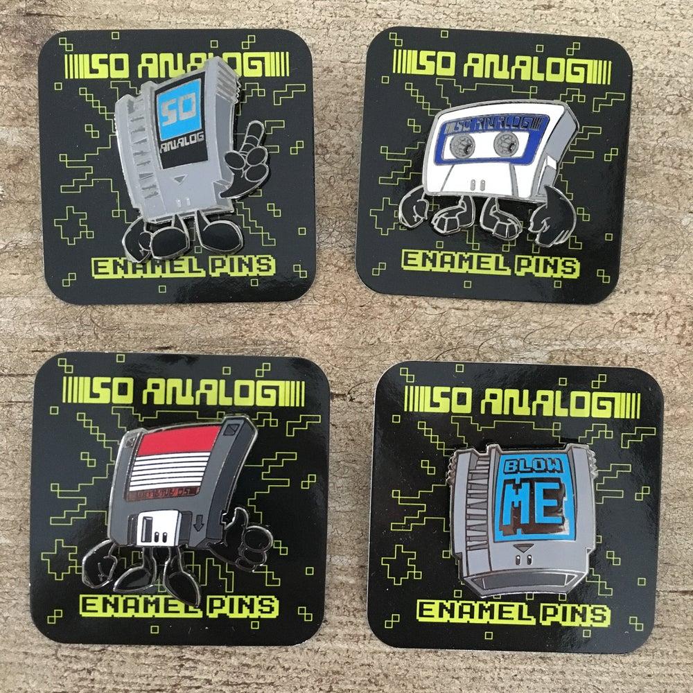 Image of So Analog Enamel Pins