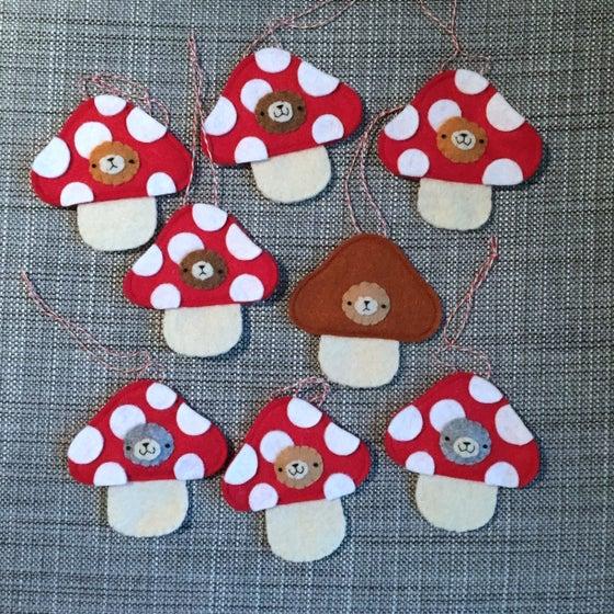 Image of incognito mushroom ornaments