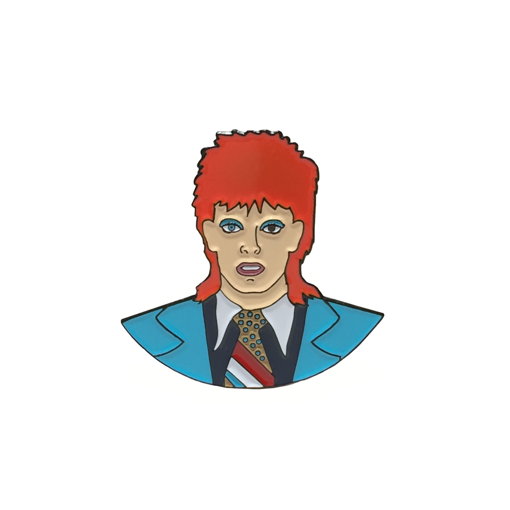 Image of David Bowie enamel pin