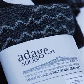 Image of Soft Merino Blend Dress Socks - 2pair pack - Waves