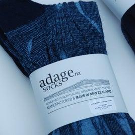 Image of Soft Merino Blend Dress Socks - 2pair pack - Geometric Botanical