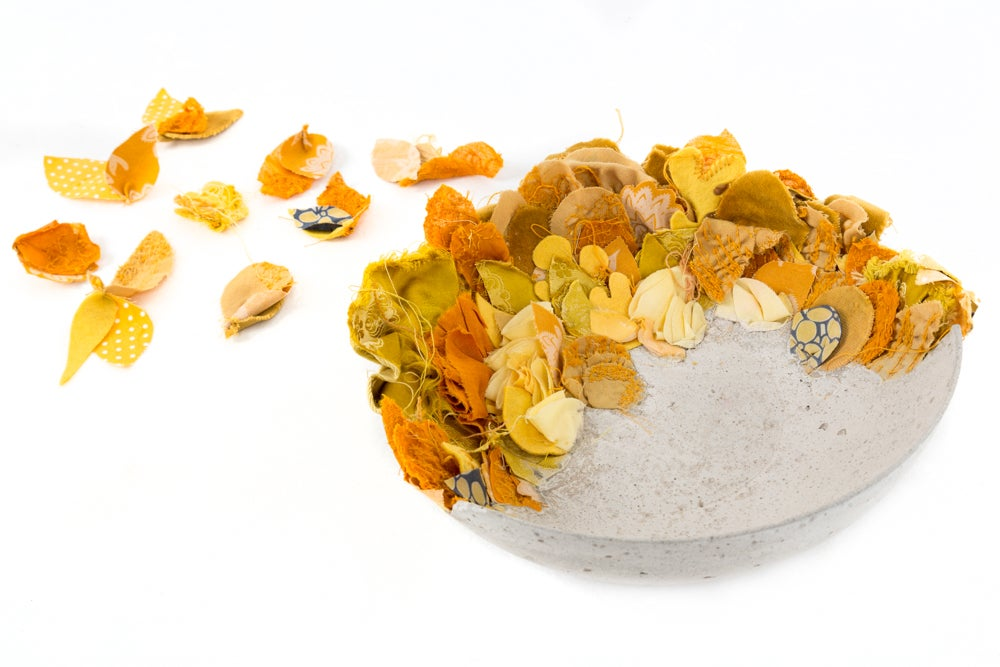 Image of Lichen - Large cloth + concrete bowl