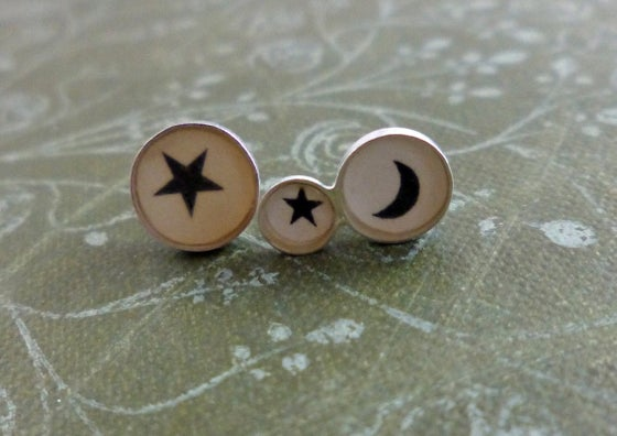 Image of Star & Moon Offset Studs